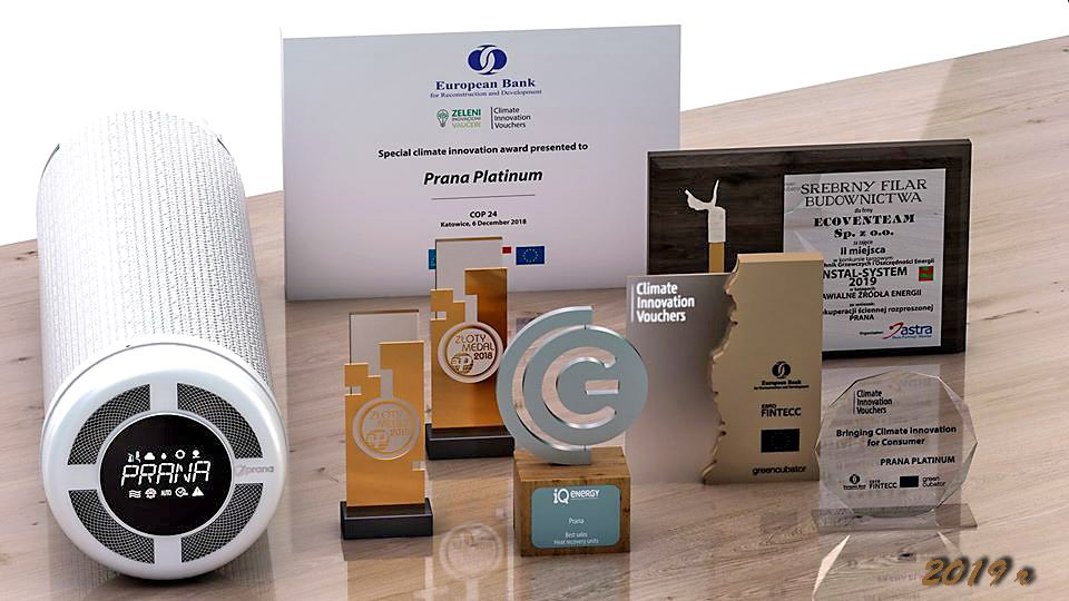 Podsumowanie nagród dla rekuperatorów PRANA